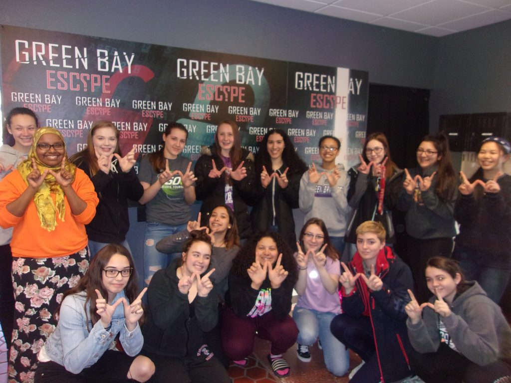 Green Bay West Girls Softball Visit GBE for some team building.