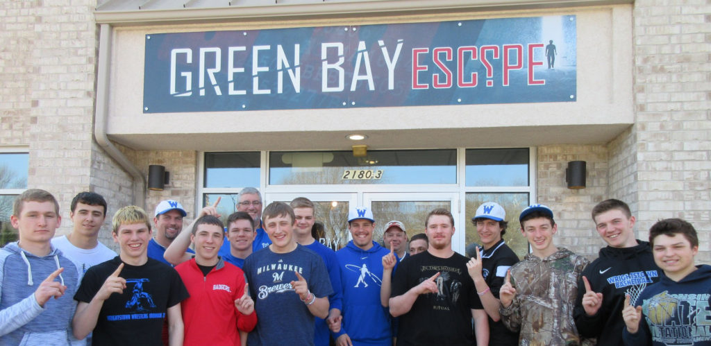 Wrightstown High School Baseball attends Green Bay Escape For Some Team Building