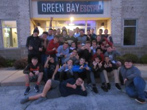 Preble Football enjoys Team Building at Green Bay Escape