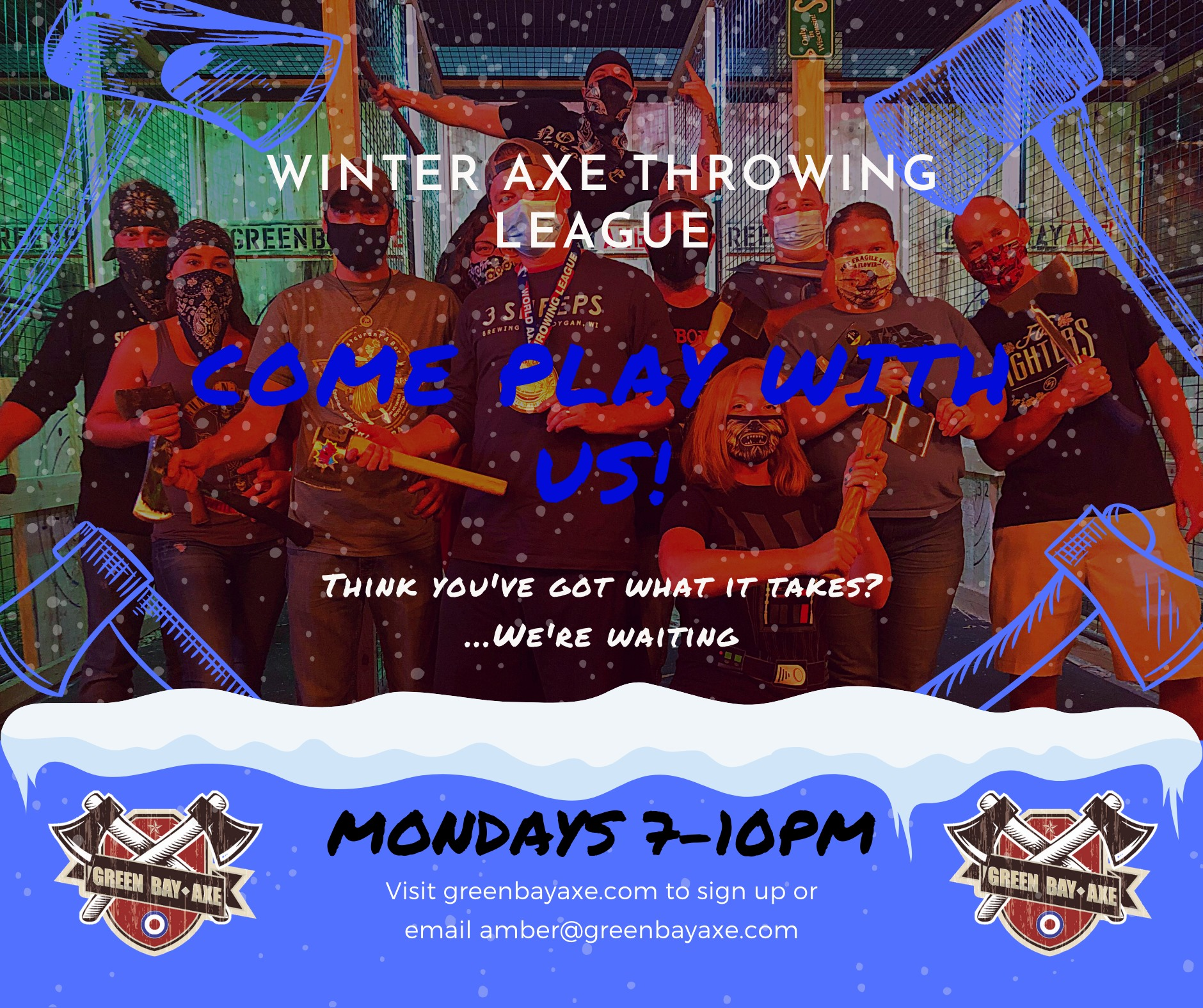 monday league axe throwing added